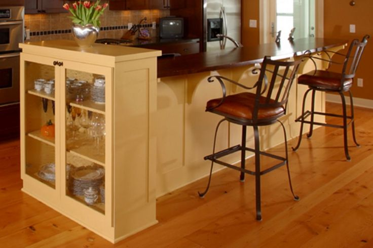 Modern Design Kitchen Island With Seating For 2 Cutlery