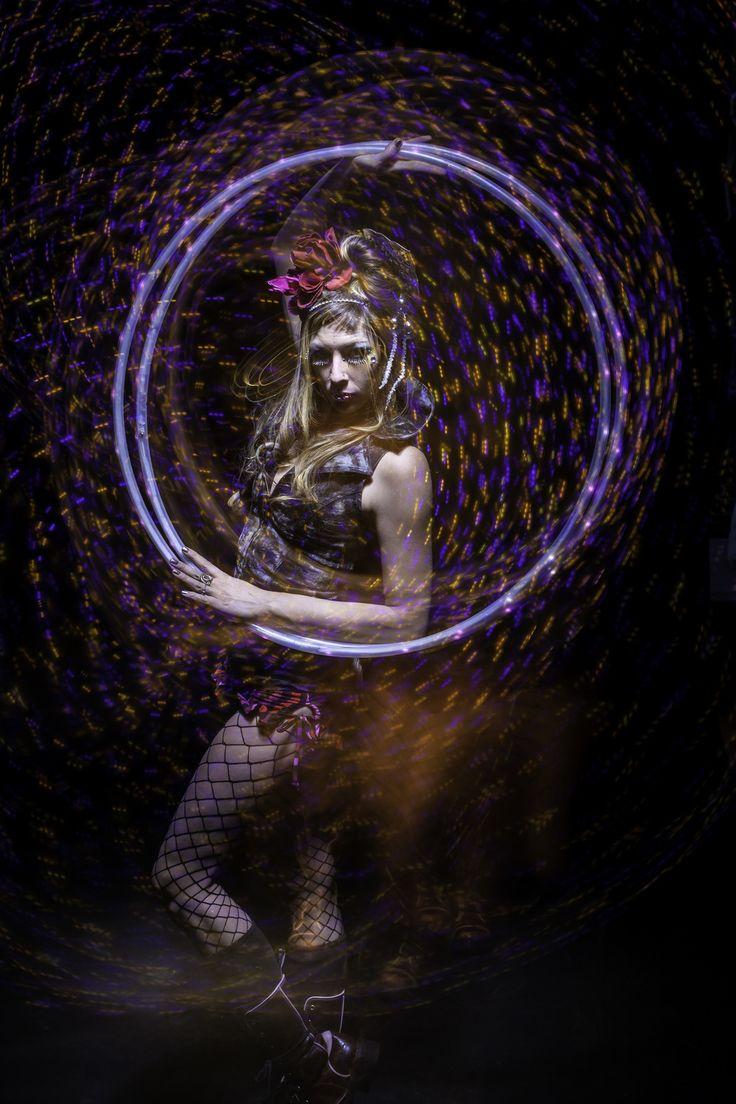Colorful Hula Hoop Dancer