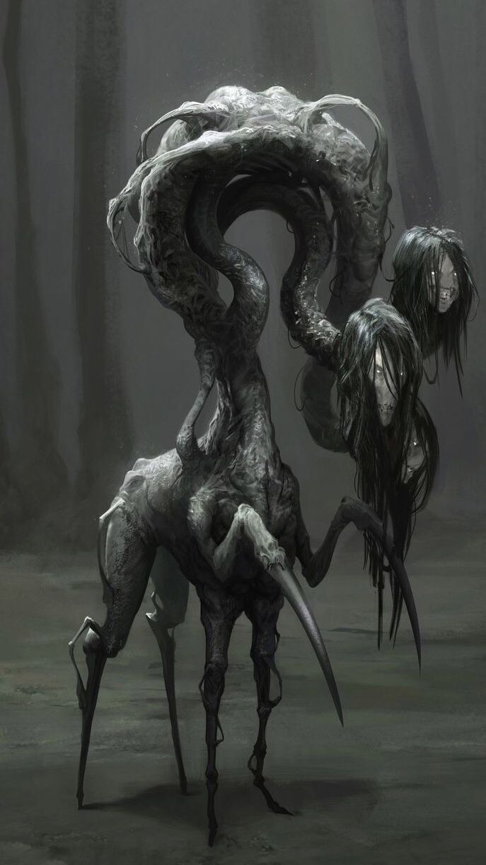 Spiders Dump In 2020 Monster Concept Art Scary Art Creepy Drawings