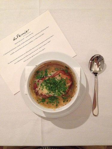 French onion soup [du Fermier - Trentham, Victoria, Australia]