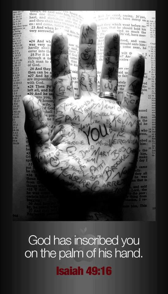 God Loves You :: Isaiah 49:16