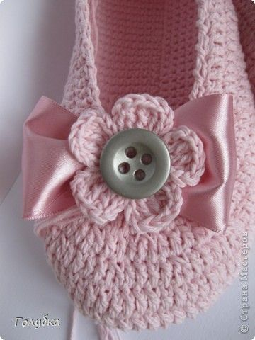 tutorial: Buttons Flowers, Crochet Shoes, Patterns Slippers Crochet, Easy Crochet Slippers Patterns, Ballet Flats, Ballet Shoes, Crochet Knits, Photos Tutorials, Crochet Easy Patterns