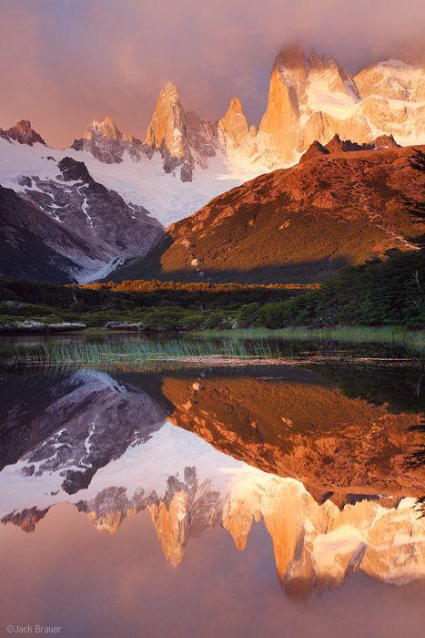Poincenot Reflection El Chaltén, Argentina Photo © copyright by Jack Brauer.