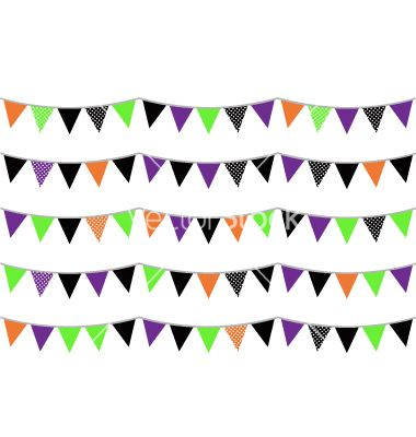 Halloween flags or bunting isolated on white vector 1282645 - by lordalea on VectorStock®