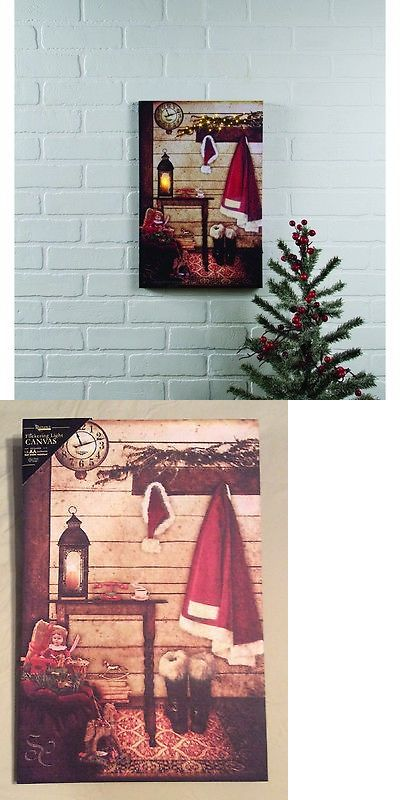 Wall D cor 166727: Almost Time Christmas Lighted Canvas, Led Light, 18 X 12 By Ohio Wholesale -> BUY IT NOW ONLY: $31.99 on eBay!