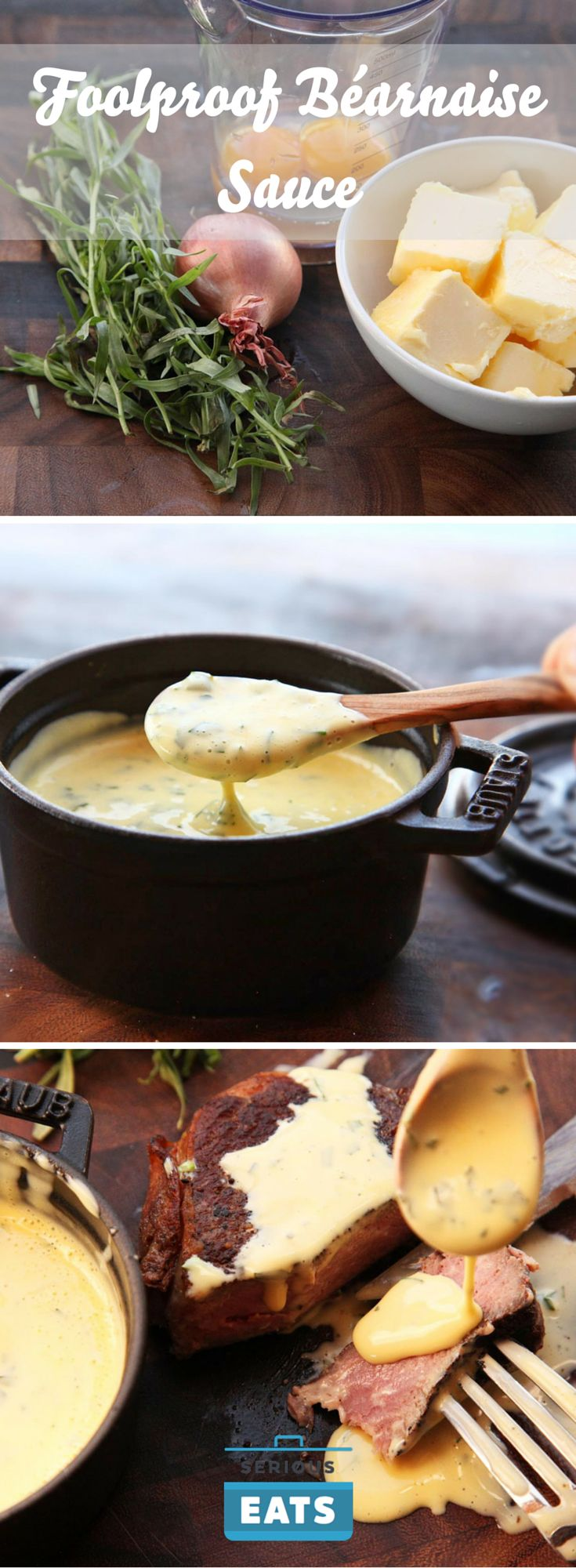 Rich, buttery, tarragon-flavored Béarnaise is the easiest elegant steak sauce to make at home.