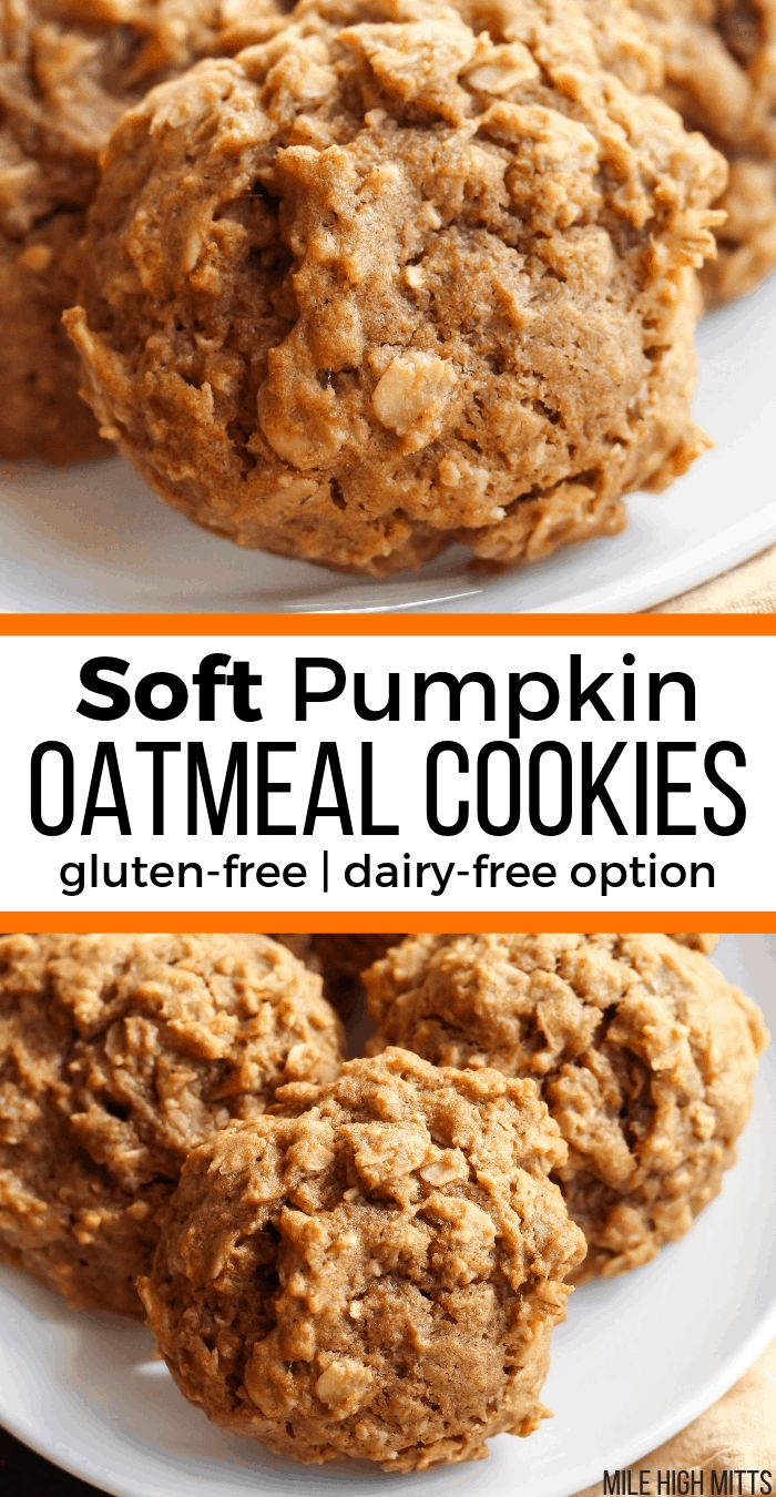 Soft Pumpkin Oatmeal Cookies (gluten-free, dairy-free option) – Mile High Mitts