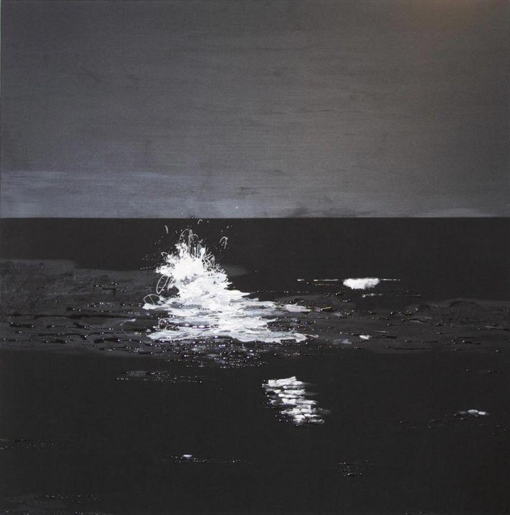 'MOONLIT WAVE KILCUNDA'  Mixed Media And Resin On Canvas 5.0cm (D) x 150.0cm (H) x 150.0cm (W)