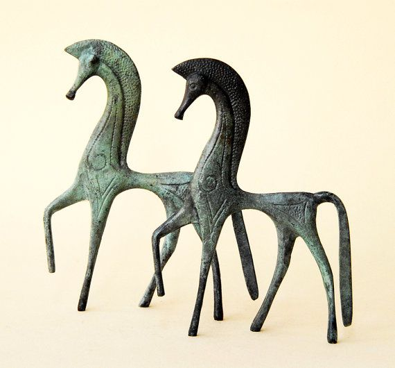 Ancient #Greek Horse  in #Bronze by GreekMythos on Etsy, $52.00