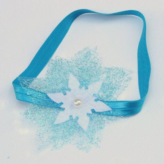 Elsa snowflake headband  frozen headband  frozen by BloomsNBugs, $6.00