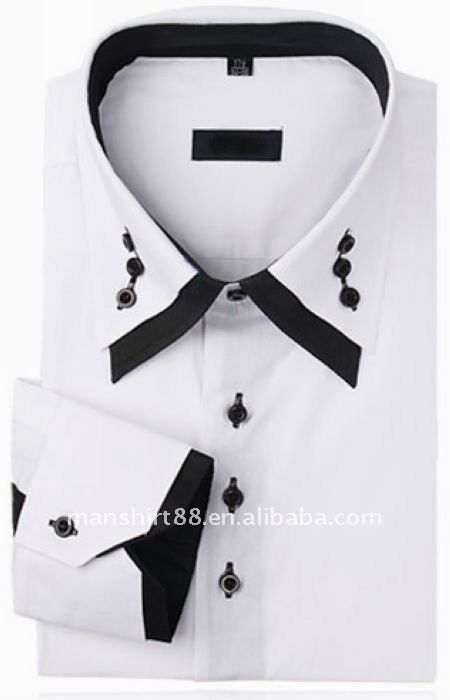 latest double collar slim fit CVC dress shirt for men, View double collar shirt for men, MH Product Details from Zhejiang Meihu Dress Co., Ltd. on Alibaba.com