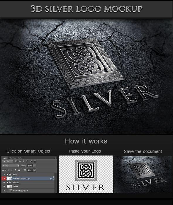 GraficAction | 3D Silver Logo