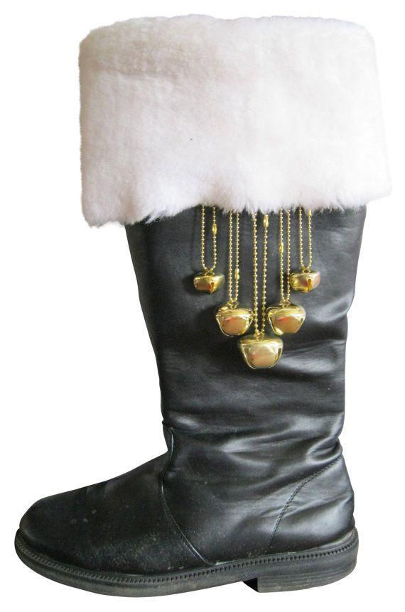 Santa boot bells for Sants suits by OLSANTAS on Etsy