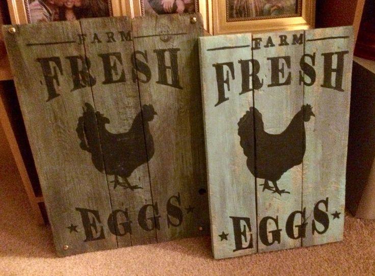 Farm Fresh Eggs Reclaimed Wood Signs
