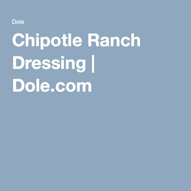 Where to buy dole chipotle ranch dressing