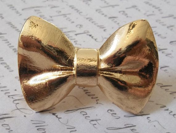 Cocktail Ring Belle Époque Gold Bow Bowtie Double by AveImmaculata, $39.00