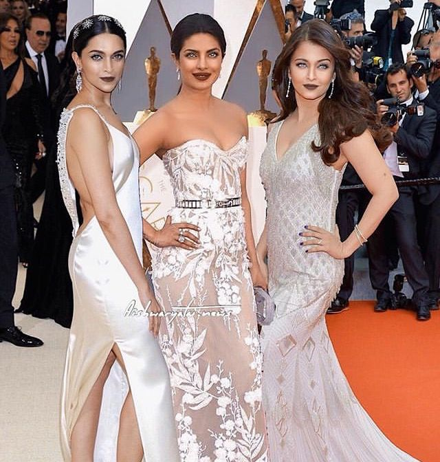 Deepika Padukone Priyanka Chopra And Aishwarya Rai Bollywood Girls Celebrity Dresses Bollywood Fashion