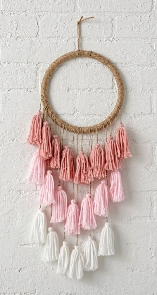 Shop Tassel Dreamcatcher for Kids.  Each tassel dreamcatcher is completely crafted by hand, making no two exactly alike.  That also means that every single one is a completely unique work of art.