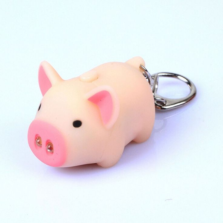 High Quality cute pig led keychains flashlight sound rings Creative kids toys pig cartoon sound light keychains child gift //Price: $1.95 & FREE Shipping //     #hashtag2