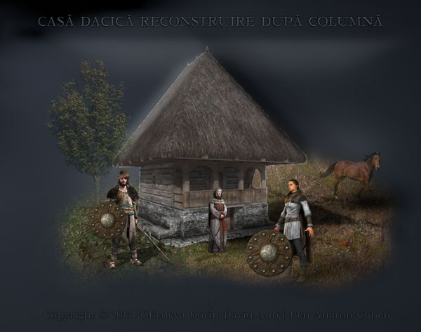 reconstruction Romania traditional  dacian houses rural romanians