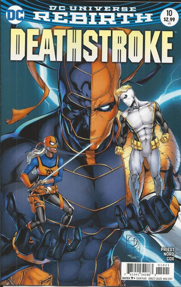 DC Rebirth Deathstroke comic issue 10 Limited variant
