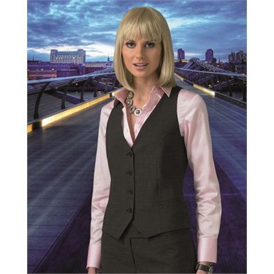 Clubclass E5V04 - Endurance Adelphi Ladies Corporate Waistcoat is a stylish polyester and wool corporate garment. This workwear item is also machine washable.
