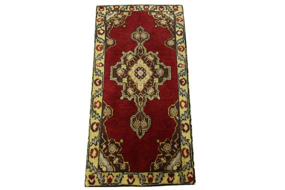 Doormats Turkish rugs handmade 30 x 1.5 Feet by stripepattern