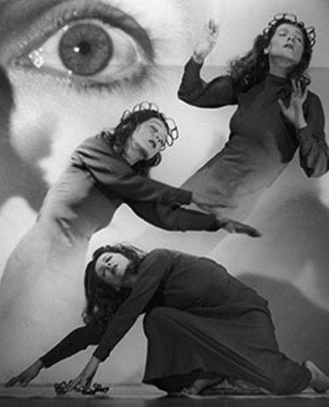 Siegfried Enkelmann. Die Tänzerin Inge Hönisch 1950s. Photomontage. Via sk-kultur