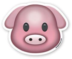 Výsledek obrázku pro emoji tumblr pig