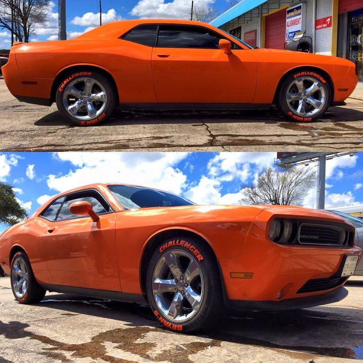 Bryan S Challenger  Custom  Tire  Lettering