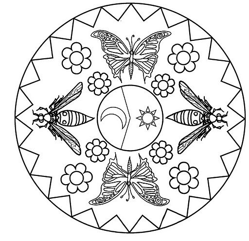 Hello Kitty Butterfly Coloring Pages : Best images about mandalas infantis on pinterest