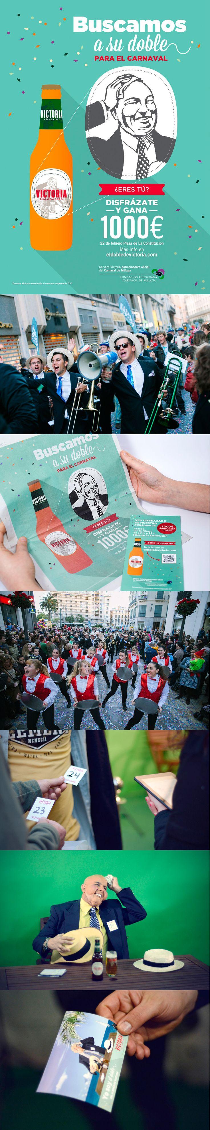 Cervezas Victoria ~ Fabricante de una de las cervezas más populares de Málaga. Ésta es la campaña que creamos para el Carnaval.