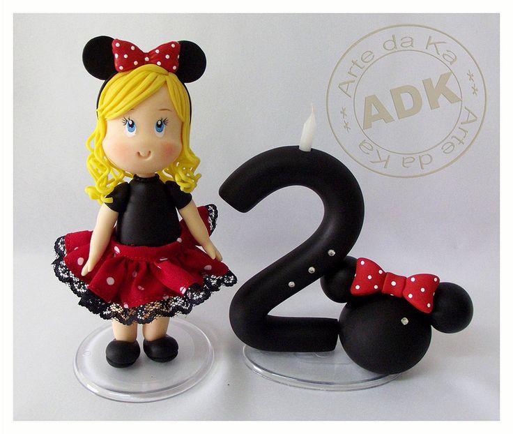 Minnie Mouse Topper by Arte da Ka via Flickr