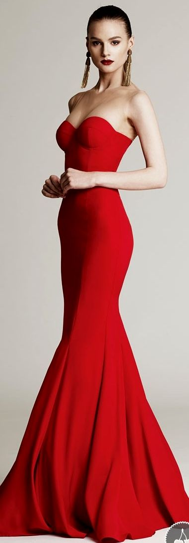 Luxury Women Red Strapless Bride Night Dress Long Special Occasion Floor