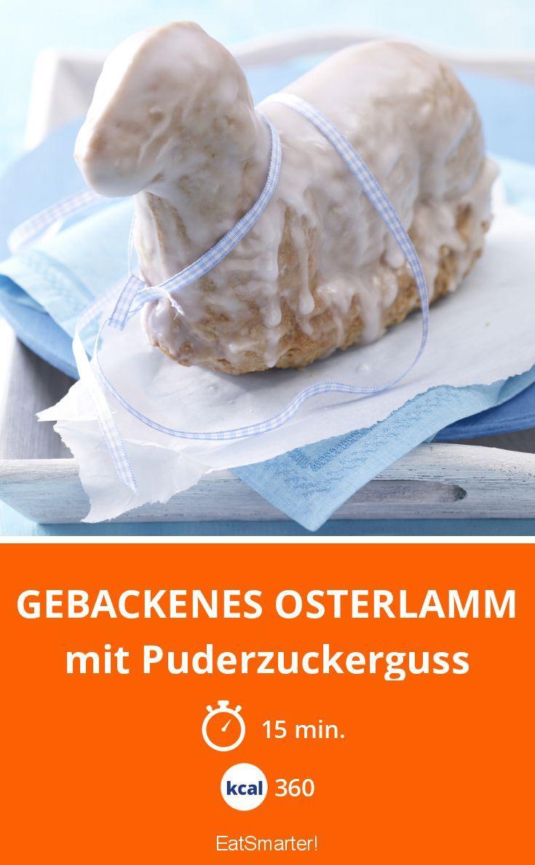 Gebackenes Osterlamm - mit Puderzuckerguss - smarter - Kalorien: 360 Kcal - Zeit: 15 Min.   eatsmarter.de