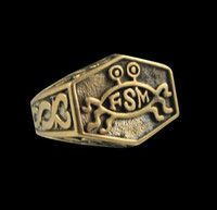New Listing Started Bronze Flying Spaghetti Monster FSM Ring - Custom Size - Free Shipping NZ$24.00