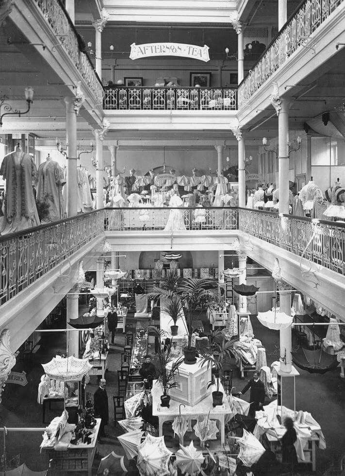 Inside Georges Department Store at 162 Collins St,Melbourne in 1908.