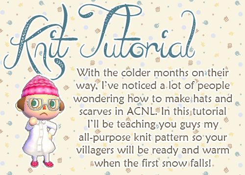 How To Make Knit On Acnl | HAIRSTYLE GALLERY