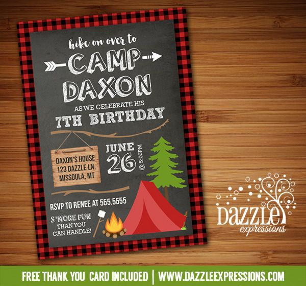 25+ Best Ideas About Camping Birthday Invitations On Pinterest