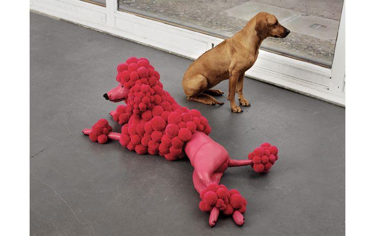 Bommel-Poodle cushion by myk-berlin