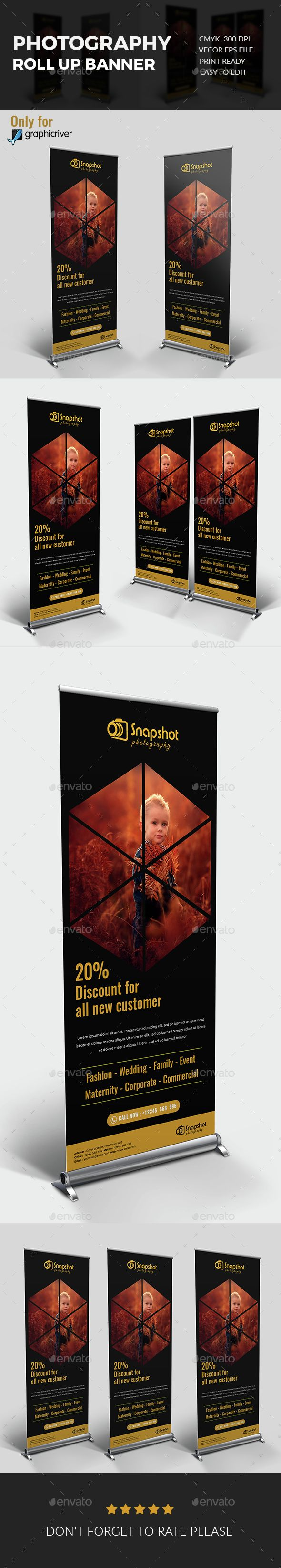 Photography Rollup Banner #photo #roll-up Download : graphicriver.net/...