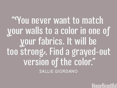 You never want to match your walls to a color in one of your fabrics.  It will be too strong. Find a grayed-out version of the color.