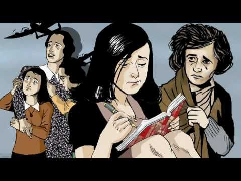 Animation of Anne Frank, the graphic biography.  Book by Sid Jacobson, Ernie Colón