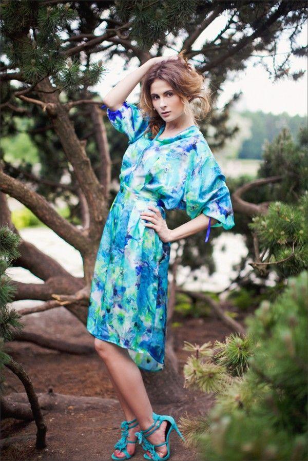 Шикарные платья #UONA #платье #красивоеплатье #платьенасвадьбу #платье-рубашка #шелк #вечерниеплатья