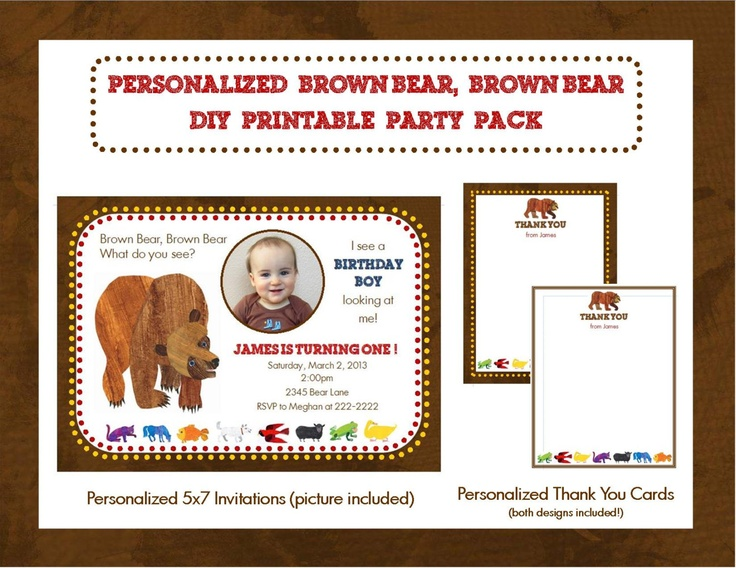28 best brown bear party images on pinterest bear party just for the idea filmwisefo Choice Image