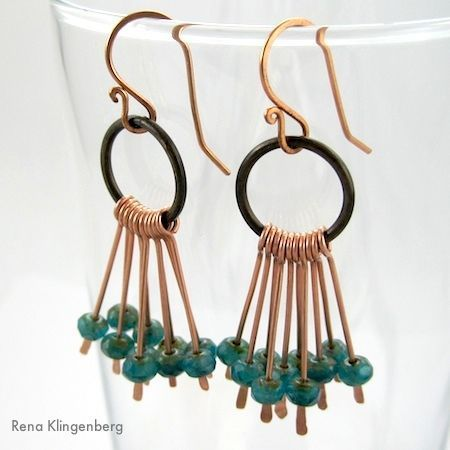 DIY Bijoux  Waterfall Earrings Tutorial by Rena Klingenberg #Wire #Jewelry #Tutorials