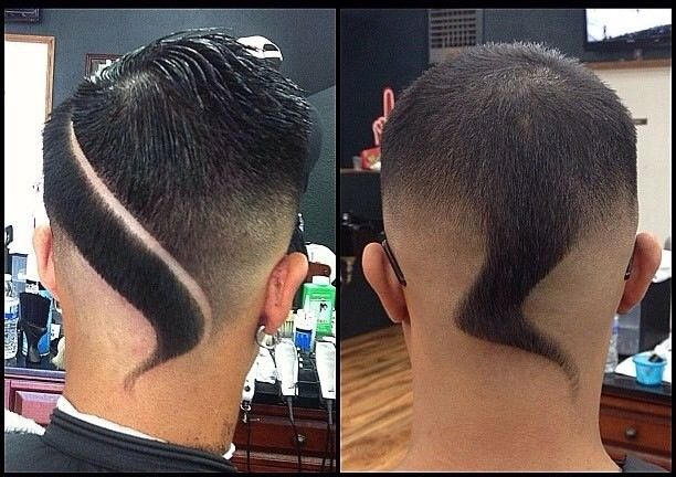 Cool men's Mohawk hairstyle.