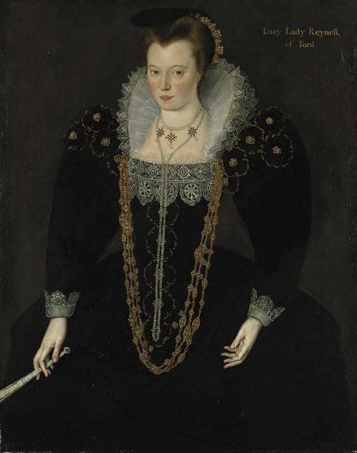 Lucy Brandon, Lady Reynell of Ford.Circle of Marcus Gheeraerts the Younger. 1595-1600
