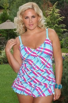 Women's Plus Size Swimwear - Always For Me Chic Prints Rainha 2 Pc Tankini Style #80878wa - Sizes 16W-26W