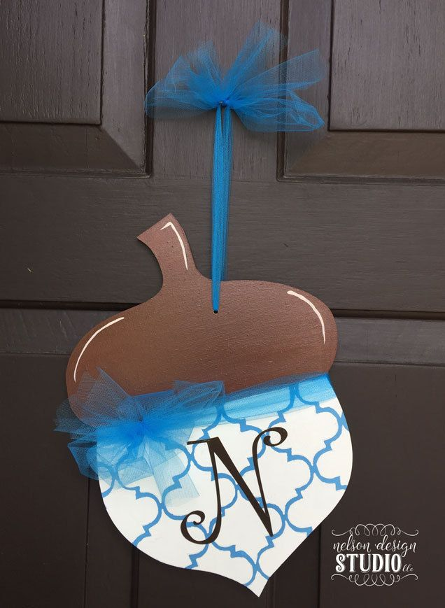 Acorn Painted Wood Door Hanger by NelsonDesignStudio on Etsy & 52 best Acorn Door Hangers images on Pinterest | Fall door hangers ... Pezcame.Com